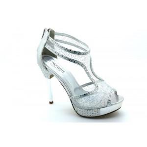 Embellished High Heel Platform Sandal