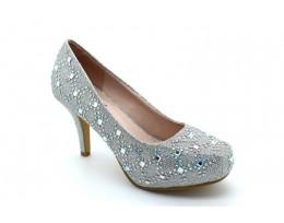 Mid Heel Concealed Platform Embellished Shoes
