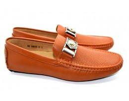 Buckle Leather look Loafers for Men