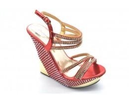 Pretty High Heel Wedge Sandals