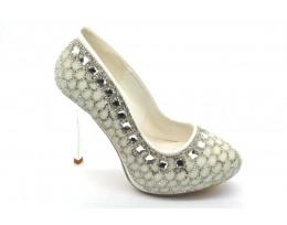 Bridal High Heel Platform Court Shoes Sandals